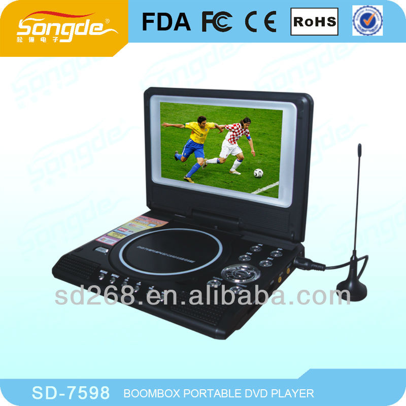 super thin portable dvd player with TV tuner full function