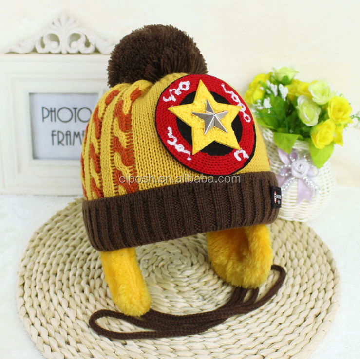 Wholesale Children Chunky Knit Beanie Winter Hat