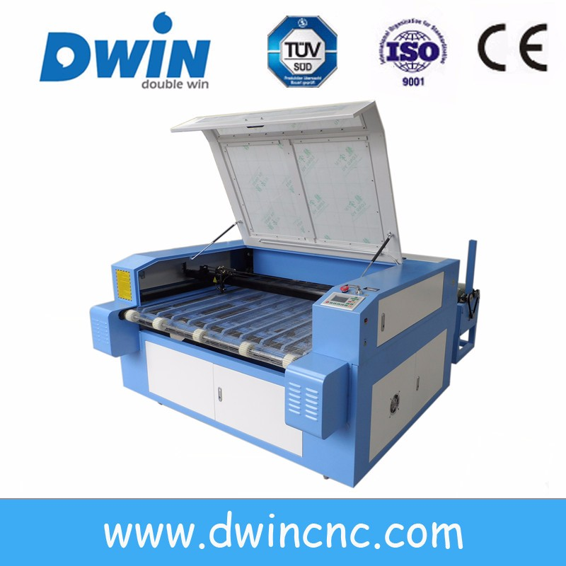 Hot sale cnc laser machine price , auto feeding laser cutting machine for fabric paper leather plastic