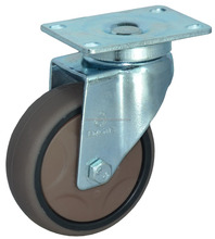 Different Color Industrial TPR Caster Wheel With Top Plate Fitting for Trolley