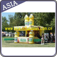 Inflatable outdoor booth/kiosk for trade shows