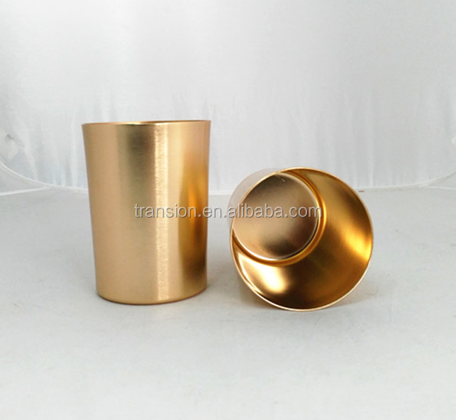 CCBM-NG324 24oz/700ml Big mouth Aluminum beer mug drinking cup suppliers with Oxidation matte gold color laser logo (Accept OEM)