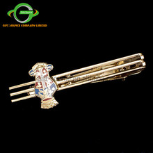 Custom Noble Imitation Enamel Gold Tie Clip, Custom Shape Unique Masonic Tie Bar