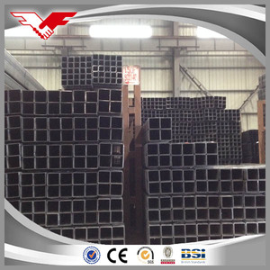 tianjin pipe ERW carbon steel weight of ms square hollow section steel tubes
