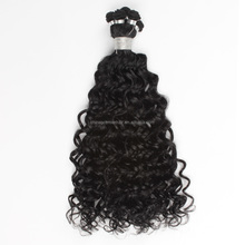 16mm Curly Virgin Brazilian Malaysian Chinese Human Hair Extension Type 100% hand tied human hair weave
