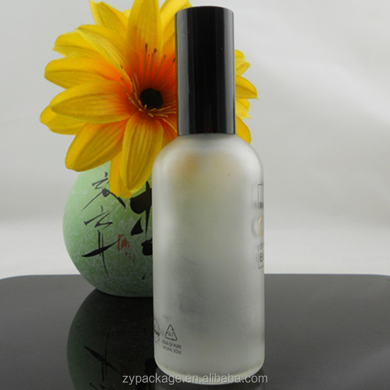 Flawless white frosted 100ml glass atomizer spray bottle for sale for perfume, oil, etc