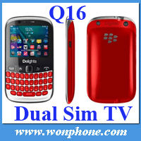 Cheapest 2 Chips TV Cellular Phone Q16