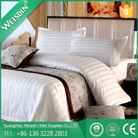 WEISDIN luxury hotel king size cotton satin comforter bedding set