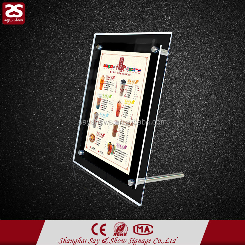 Wholesale Restaurant Wire Hanging acrylic led signs display menu light box