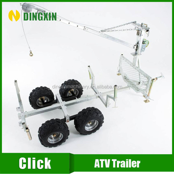 ATV towable wood trailer