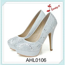 new arrival high heel Luxury design ladies diamond dress party prom bridal wedding shoes