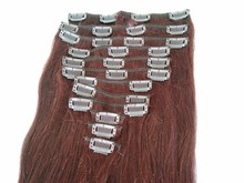 best selling products indian sexy clips, full head cheap colored clip in hair extensions