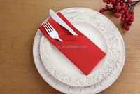 TUXEDO-FOLD napkin for knife and fork