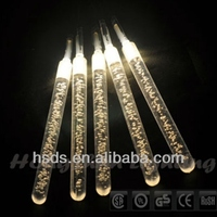 low price Battery operated thanksgiving day decorative led Acrylic Crystal tube string light
