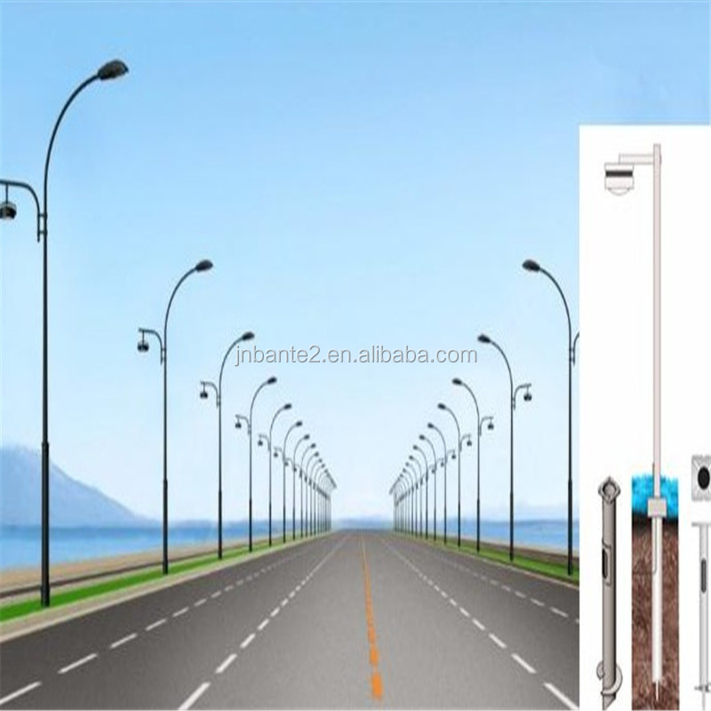 street lamp or parking light poles helical piers