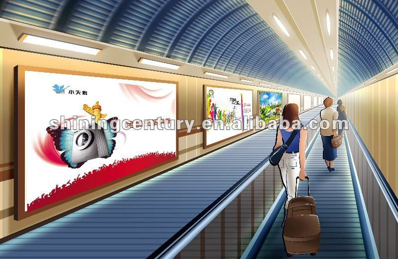 subway advertising; dye sublimation printing;polyester fabric