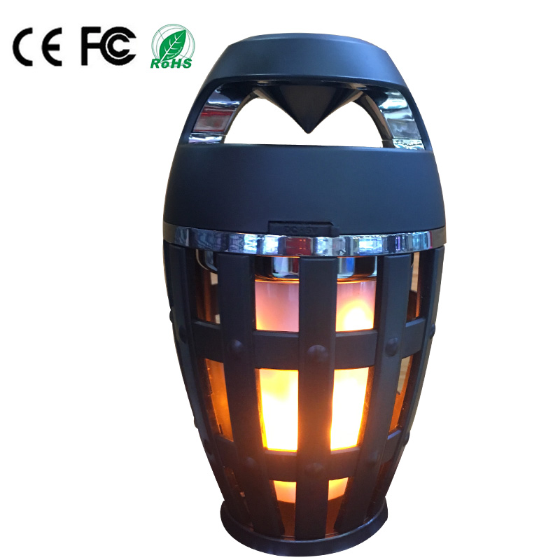 2018 LED Night Light Stereo <strong>Speaker</strong> with Dancing Flame