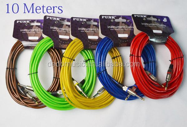 Wholesale Guitar Cable Cable for Guitar 10 Meter