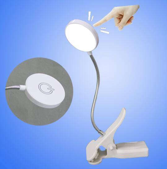 Touch Dimmer Usb Book Light Clip On Led Mini Light