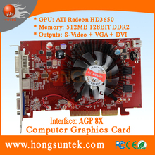 ATI Radeon HD3650 S-Video DVI VGA Graphics 512MB AGP Video Card