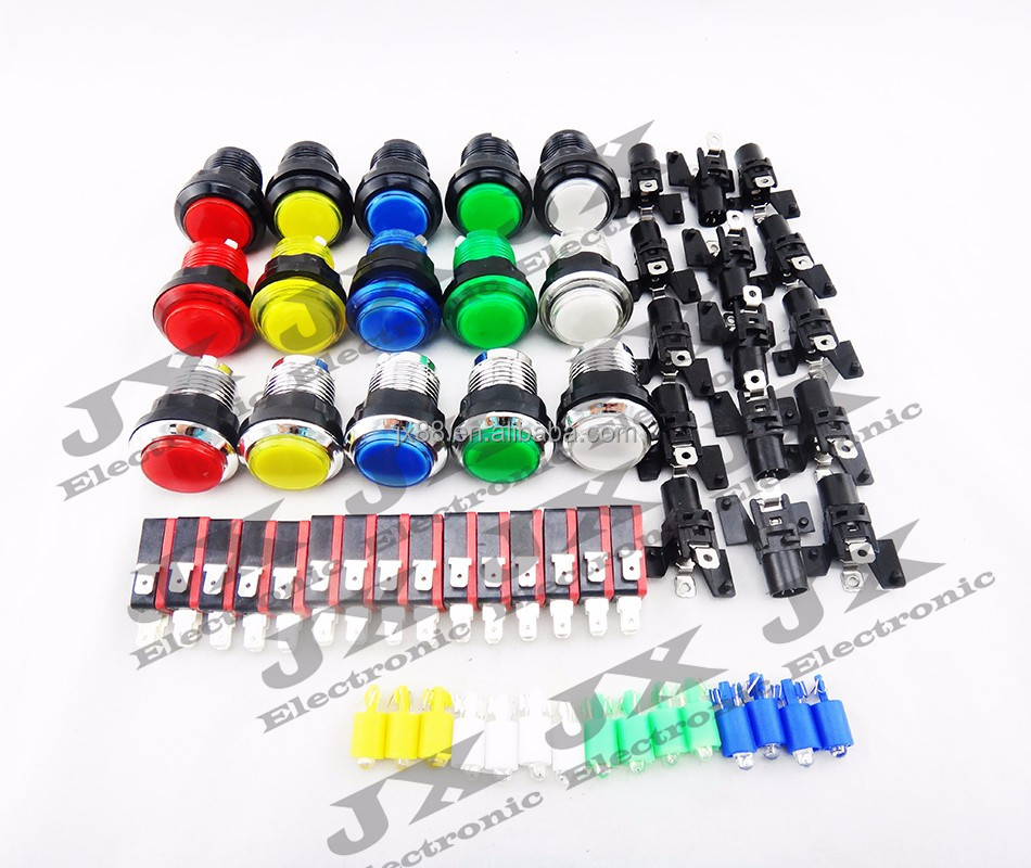 DIY arcade games machine kits joystick push button switch in set