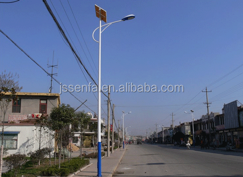 Replace 400W HPS Lamp 10M Pole 100W Solar Street Lights solution