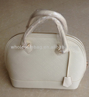 Korean Designer Wholesale High Quality Ivory Pu Leather Shell shaped Handbag Shoulder Bag For Women Ladies