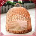 For all season fancy customized rattan pet sofa cat show cages dog bed luxury