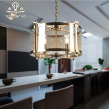 High Quality Nordic Chandelier Cylinder Shape Led E27 Ceiling Pendant Fixtures Glass Light