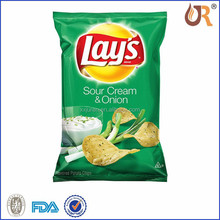 Heat Seal Potato Chip Plastic Bag With Custom Logo Design Printing