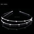 2016 New wedding jewelry silver pear headband crystal hairband wholesale