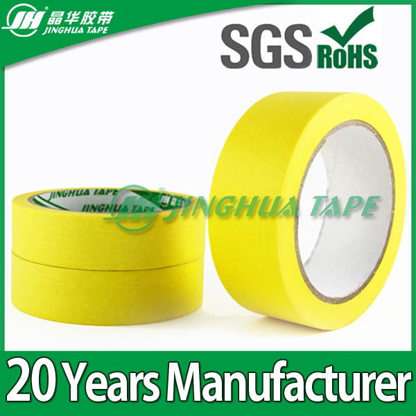 High quality cheap adhesive colored crepe paper masking tape jumbo roll manufacture in china