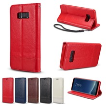Cell phone cover wallet credit card ID card case PU leather flip cell phone case with stand for samsung galaxy s8 mobile phone