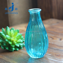 mini blue glass material murano flower vase for table decoration