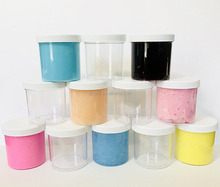 slime storage jars 6,8 oz - clear all purpose containers - for all glue putty making - art, craft and hobby storage containers