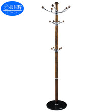 (7018# black color) modern and concise European style Standing Coat Rack With Hat Holder Hooks