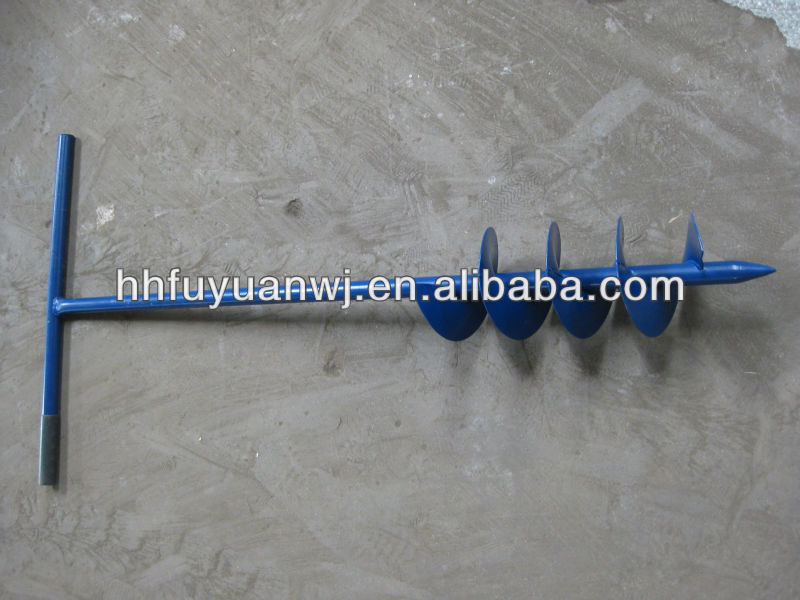 metal powder coated screw earth auger anchor for sale