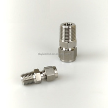 SS316 bulkhead npt male famale connector for 1/2 tube union fitting