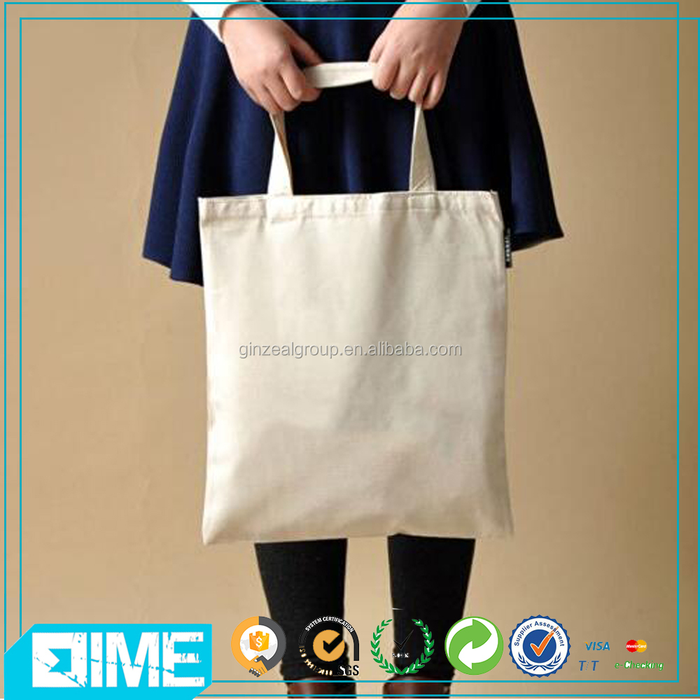2017 OEM Fashion Cheap Recycled Cotton Tote Bag Eco Foldable Shopping Bag