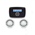 square waterproof mp3 player and speaker for golf cart