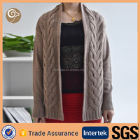 Women cable cashmere cardigan cashmere sweater