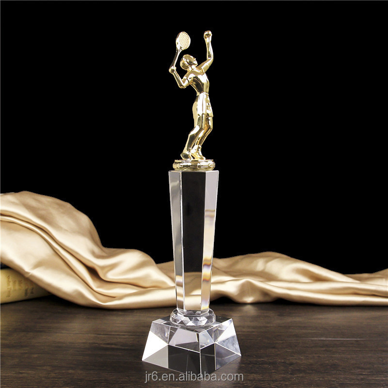 An Oscar statuette trophy crystal tennis award trophy for souvenir gift