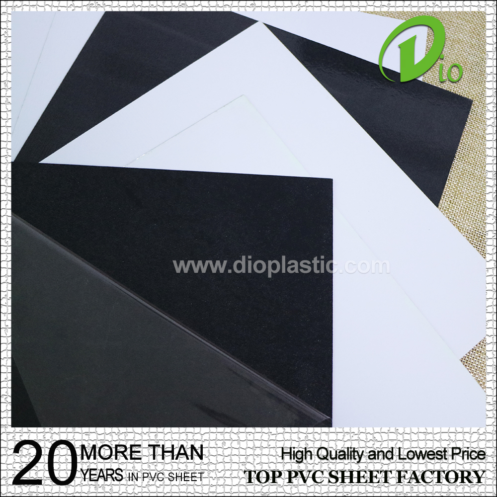 customized self adhesive white 0.8mm pvc sheet for photo album