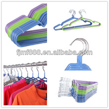 Coated Wire Dry Cleaning Metal Clothes Anti-slip Plastic Hanger