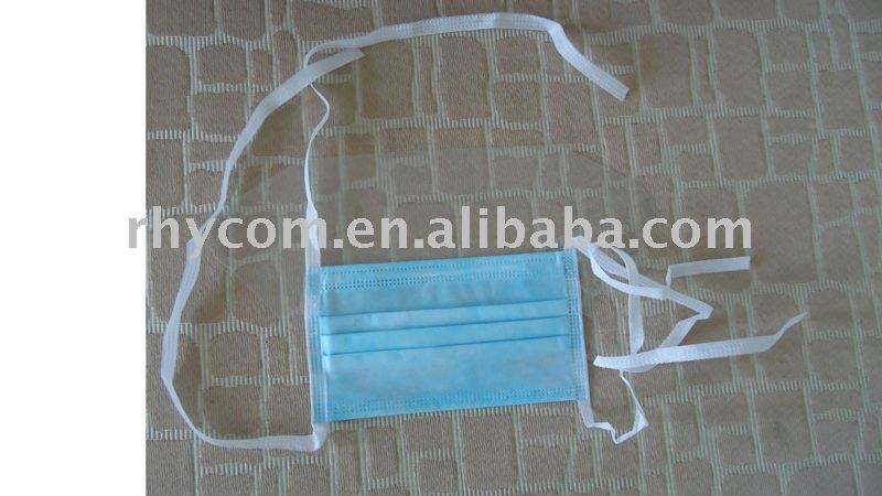 Disposable face mask with eye shield,blue colour