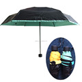 full lightproof coloring rubberized fabric 5 folding umbrellas