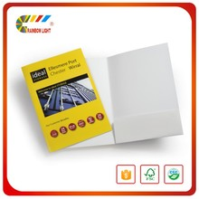 Promotional commercial folder special paper die cutting a2,a3,a4,a5 file folder