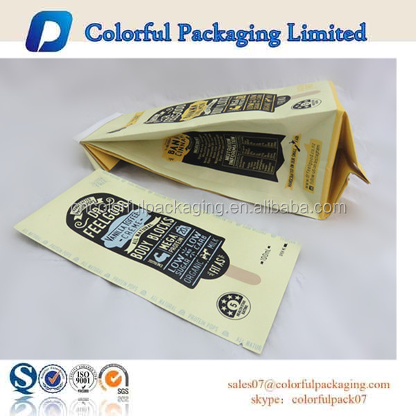 Custom printed food grade plastic bar wrappers ice cream for Food bar packaging