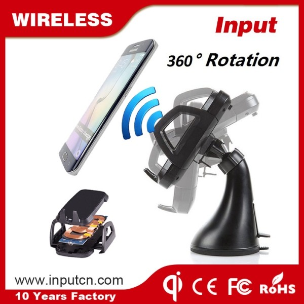 New Innovative Product Ideas ROHS Universal Custom Usb Qi Wireless Car Charger for Samsung