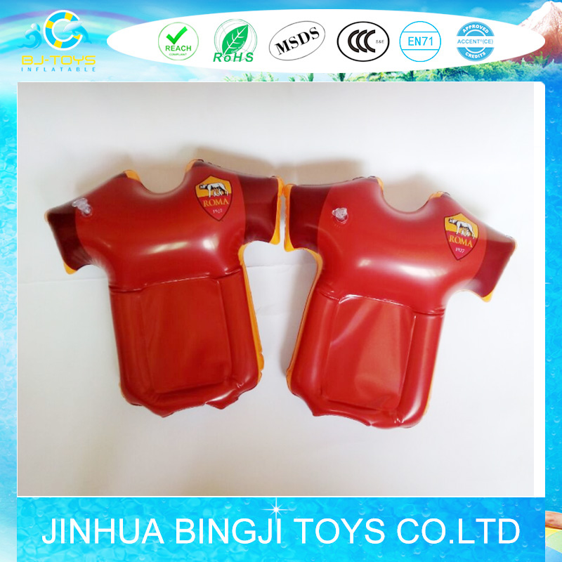 hot promotional pvc inflatable hand inflatable Roma T-shirt inflatable flag football Tshirt
